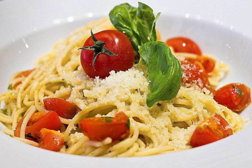 Los Alimentos, Placa, Espagueti, Pasta, Plato, Cena