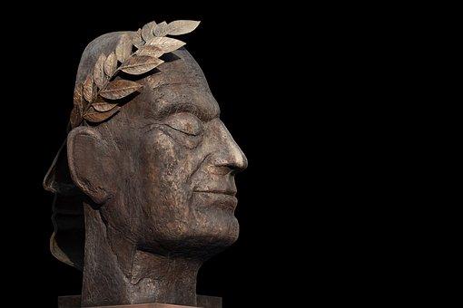 彫刻, Juliusシーザー, 像, アート, 古代, 古い, 肖像画