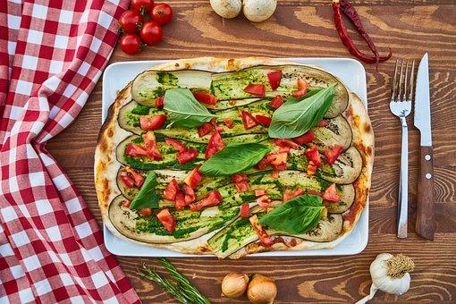 Pizza, Dough, Pepper, Table, Vegetable