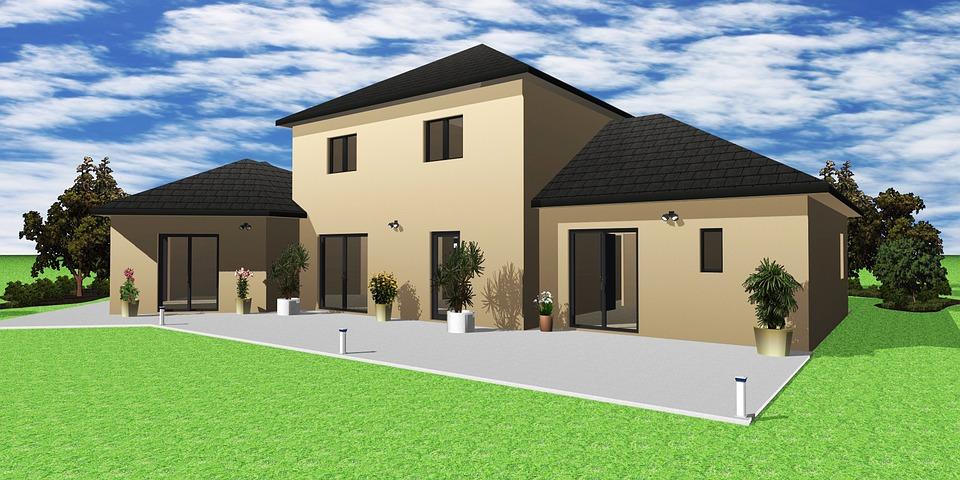 房子, 3D, 给予, 设计, 首页, 建设, 结构, 呈现, 外墙, 生活, 模型