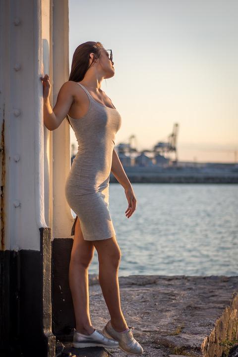 女性, 水, 体, セクシーです, 若いです, ライフスタイル, 大人, レジャー, 女の子, ビーチ, 夏