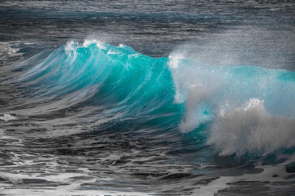 Wave, Water, Spray, Sea, Splash, Liquid, Nature, Wind