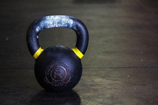 Kettlebell, Gym, Fitness, Workout