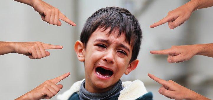 いじめ, 子, 指, 提案します, 同定された患者, 表示, 離婚, 圧力