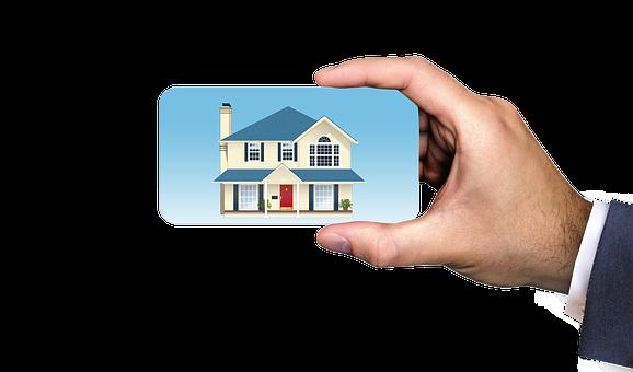 业务, 商人, 地产代理商, 房地产经纪人, 房地产, 房子, 购买房子, 名片