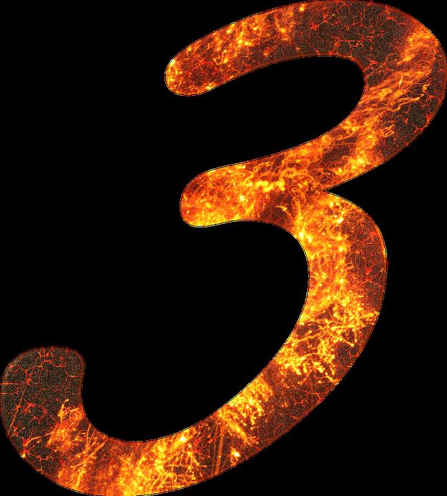 Numero 3 Fuoco - Immagini gratis su Pixabay