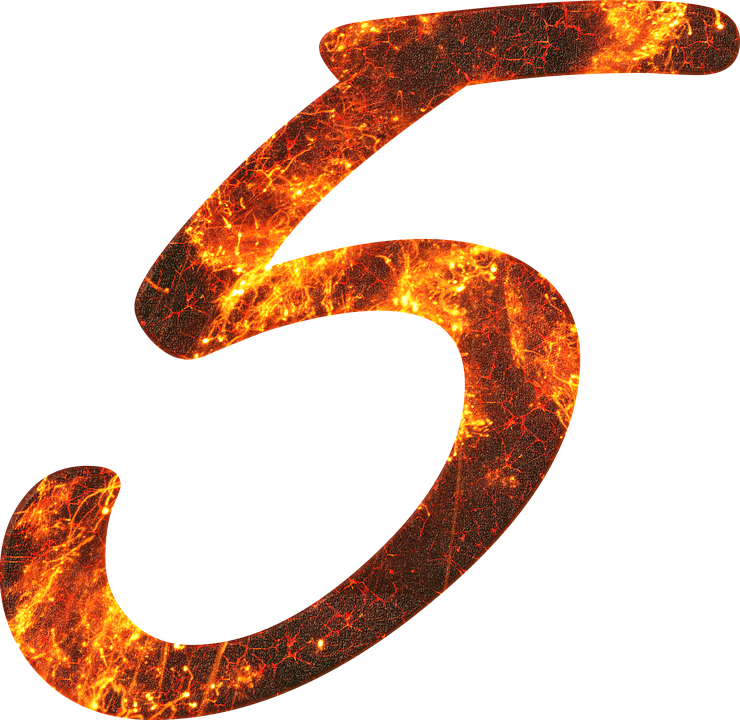 Number 5 Fire - Free image on Pixabay