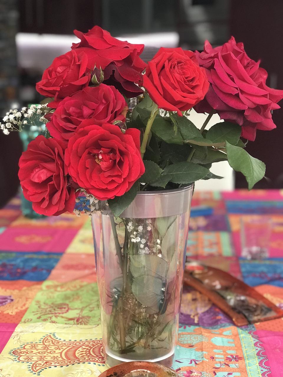 фото настоящих букетов в вазе втором