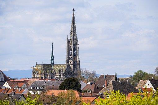 Church steeples images pixabay download free pictures gedchniskirche church steeple altavistaventures Images