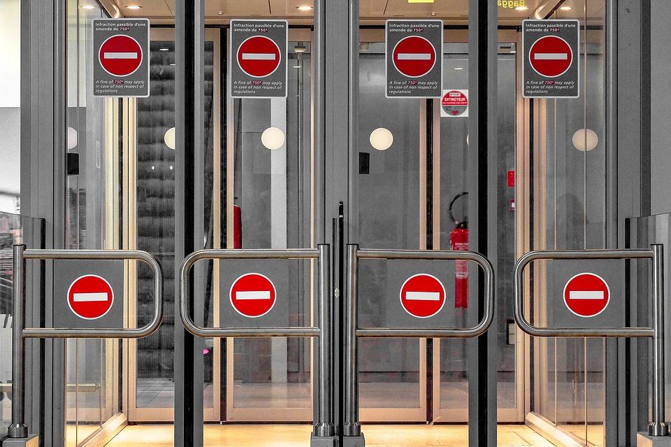 Security, Door, Glass, Airport, Arrivals, Terminal