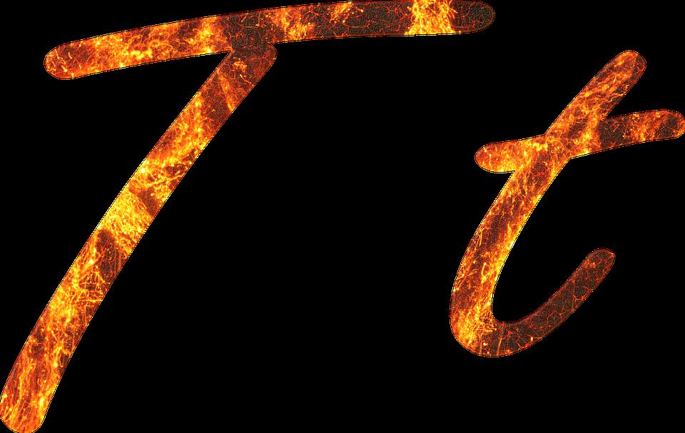 Lettre T Le Feu - Image gratuite sur Pixabay