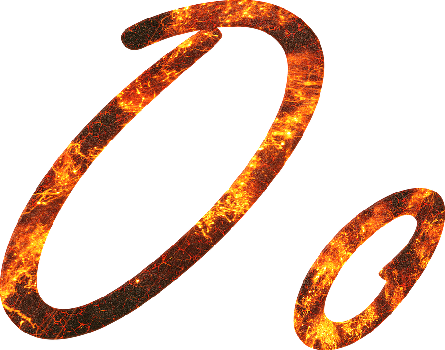 Letter O Fire Embers Lava Font Write Type Fonts