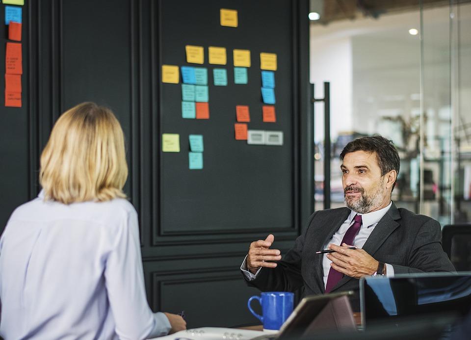 ビジネス, 大人, 人, オフィス, 屋内で, アメリカ, 分析, 注意深く, 金髪, ボード