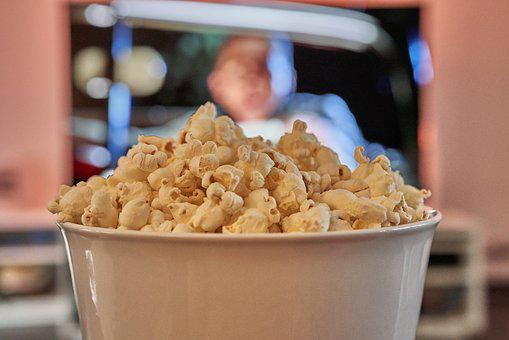 Bowl, Popcorn, Cinema, Tv