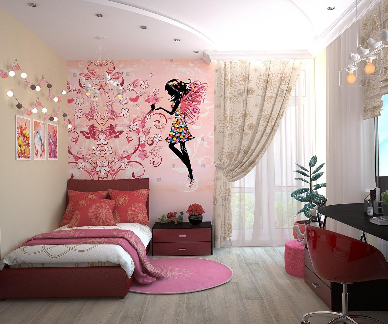 Chambre couleurs vives