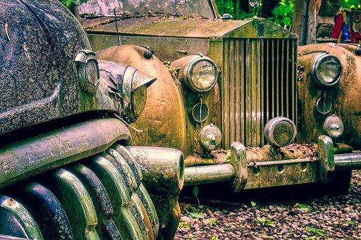 Auto, Limousine, Car Cemetery