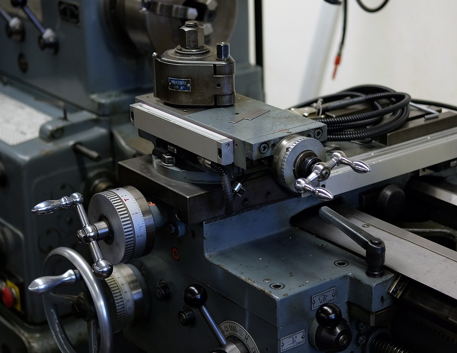 Industry, Lathe, Work Table, Equipment, Production