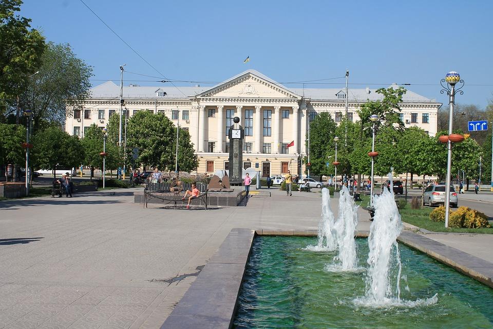 Архитектура, Дом, Улица, Мегаполис, Украина, Запорожье