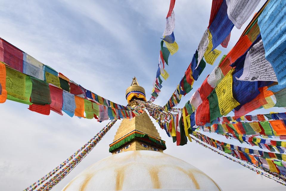 尼泊爾, 旅行, 廟, 經幡