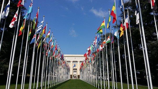 Bandera, Geneva, Naciones Unidas