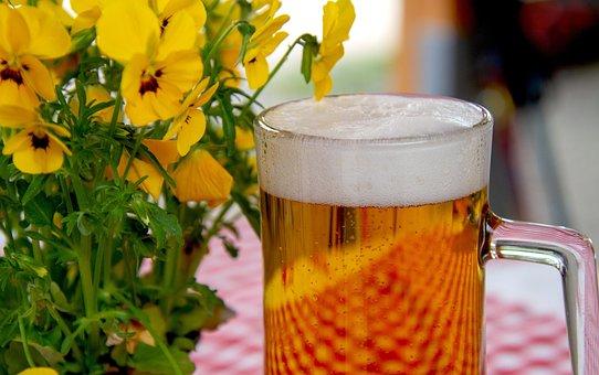 Beer, Glass, Drink, Beer Garden