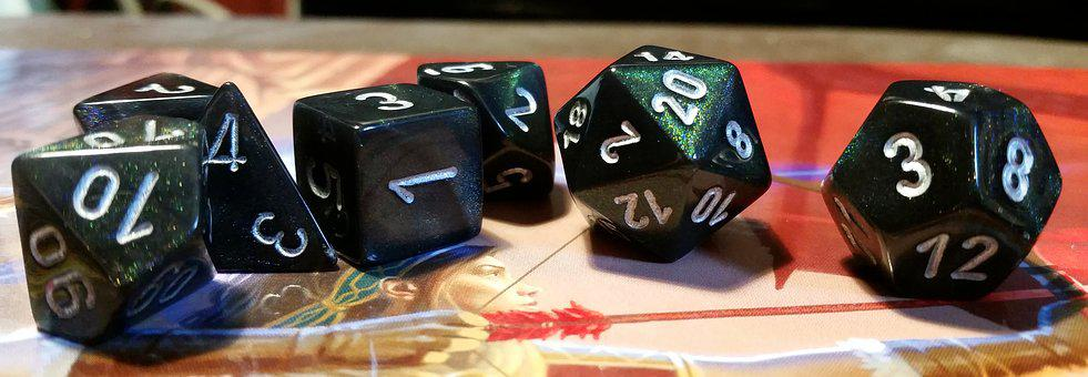 Dice, D D, Dungeons And Dragons, Trendy