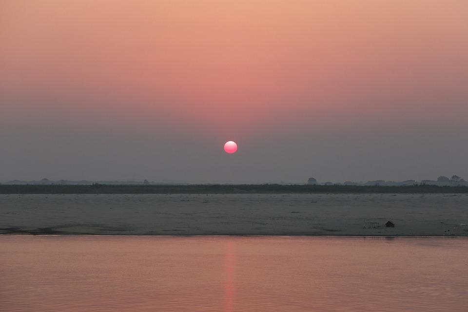 Bagan, Irrawaddy, Myanmar, Burma, River, Waters
