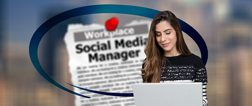 Social, Media, Manager, Online, Woman