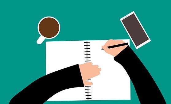 ブログ, 書き込み, コーヒー, ワークスペース, 勤務先, 仕事