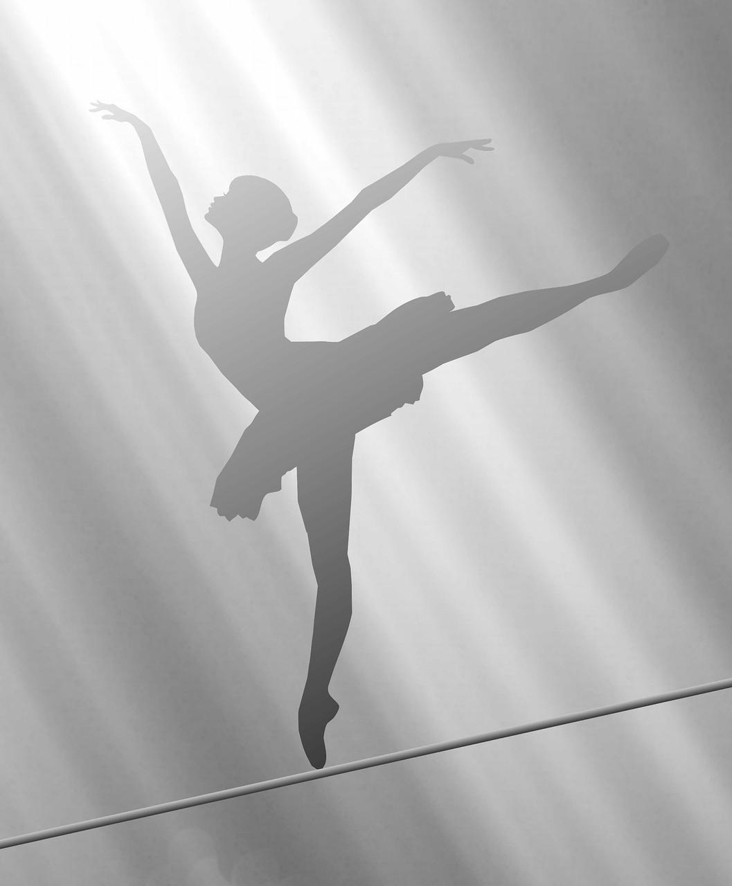Танцовщица картинки тень