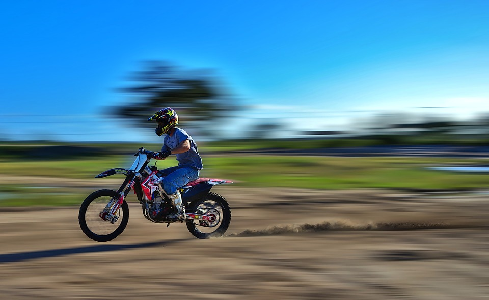 Speed Fast Motocross Dirt Bike Power Dust Rider