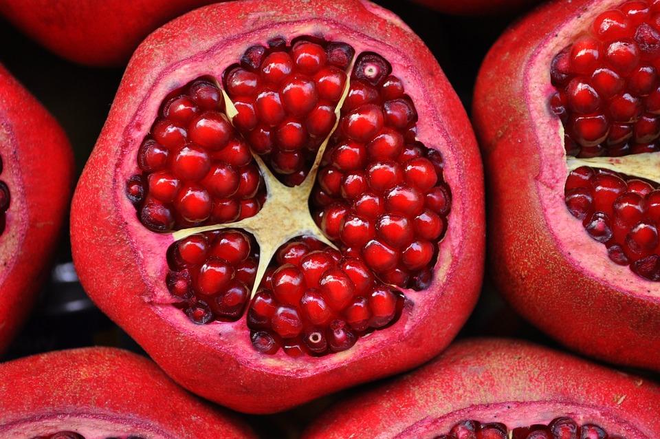 Melograno, Frutta Esotica, Frutta, Taglio, Affettato