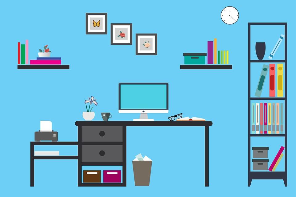オフィス, 仕事, 場所, ビジネス, コンピュータ, チーム, テーブル, 人, 企業, ラップトップ