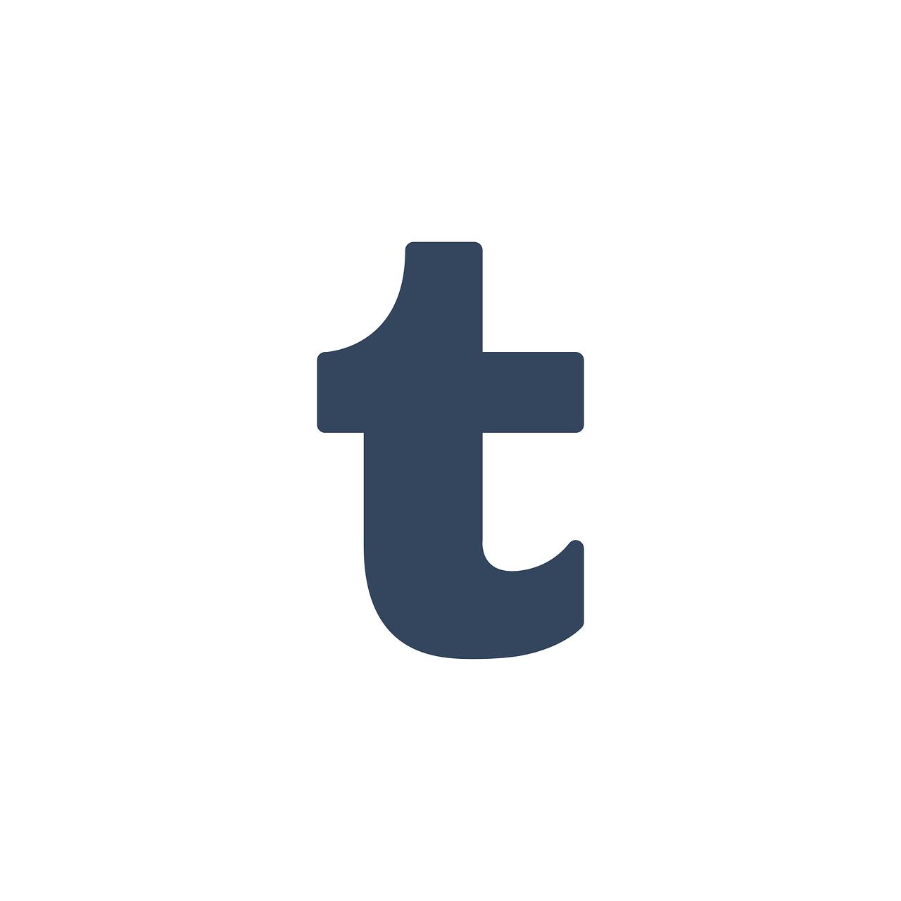 Tumblr Tumblr Symbol Logo   Kostenlose Vektorgrafik auf Pixabay