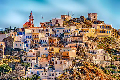 Greece, Village, Karpathos, Hill