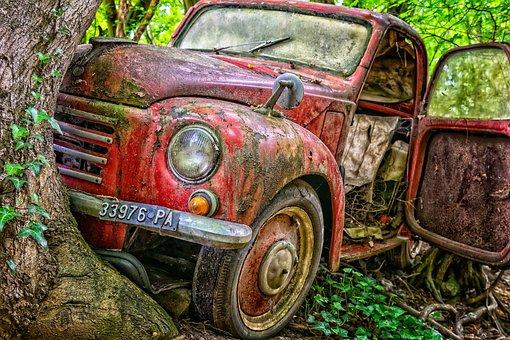 Pkw, Accident, Tree, Destroyed, Auto