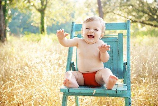 Bebê, Sessão, Sorrindo, Feliz, Menino