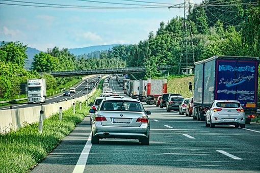 Autobahn, Rettungsgasse, Stau, Auto
