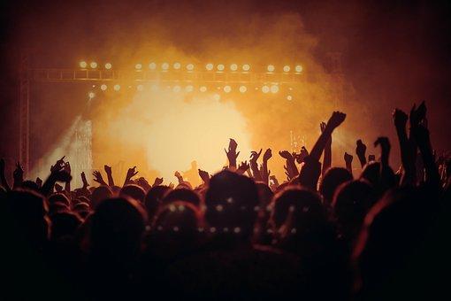 音乐会, 生活, 观众, 人, 人群, 庆典, 灯光效果, 事件, 阶段, 很多