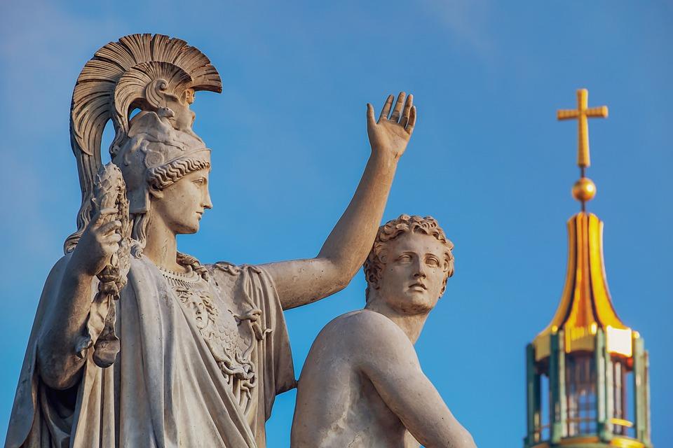 Памятник, Скульптура, Греческие Боги Цифры