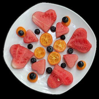 Obst, Platte, Herz, Frisch, Gesund, Süß
