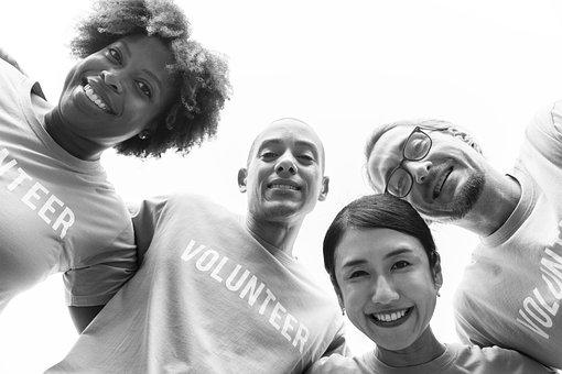 白人, 慈善団体, コミュニティ, 寄付, お友達と, 友情, グループ