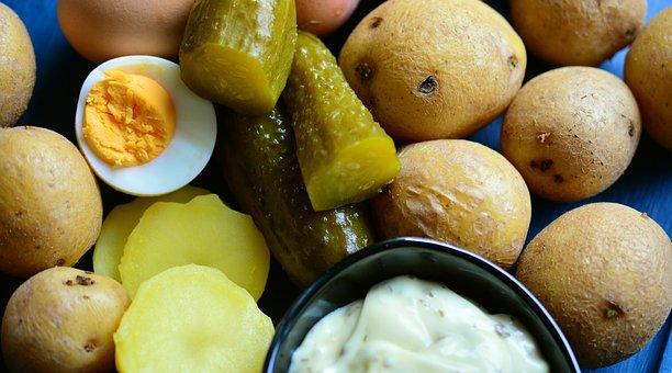 ジャガイモ, ジャガイモのサラダ, ポテトサラダ食材, 胡瓜, スパイスキュウリ