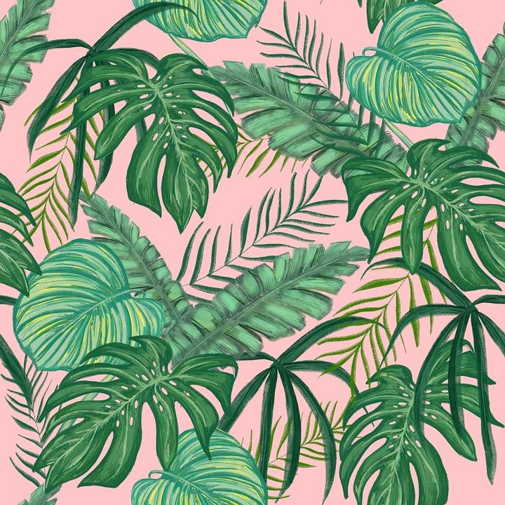 tropical greens leaves design free image on pixabay
