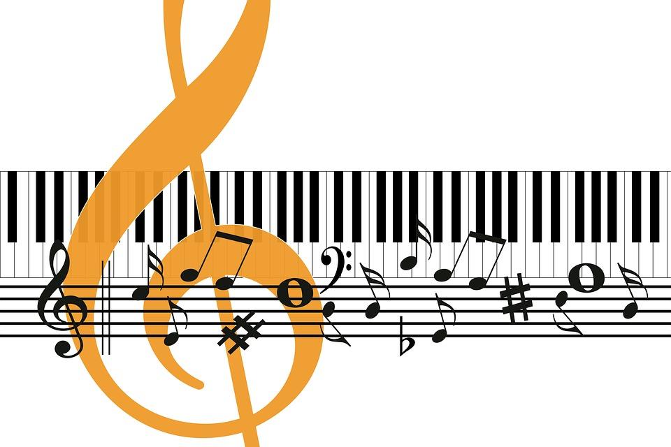 Musik, Klavier, Violinschlüssel, Notenschlüssel, Noten