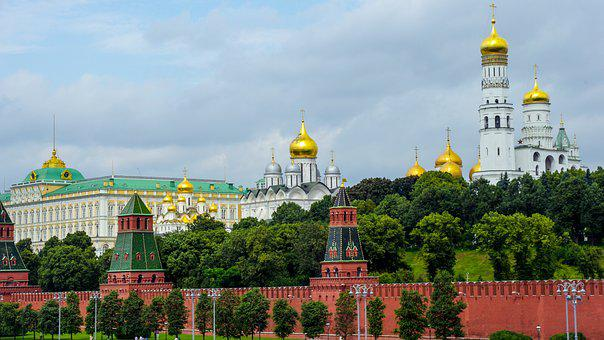 Principales ciudades de Moscú, Rusia, Kremlin,
