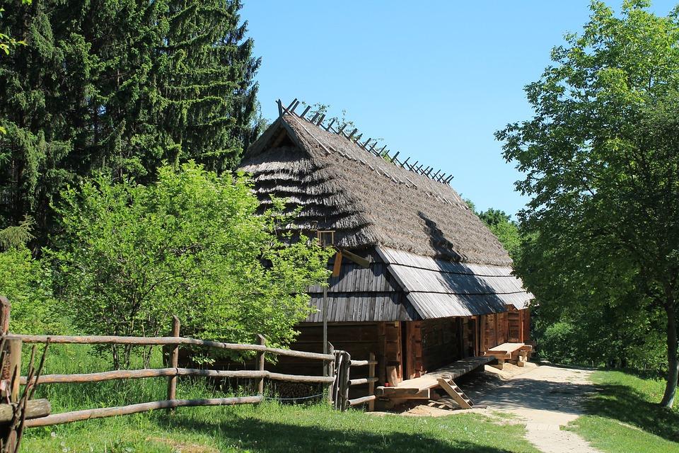 Ukrainian Hata, Rural Hut, Ukraine, Lviv