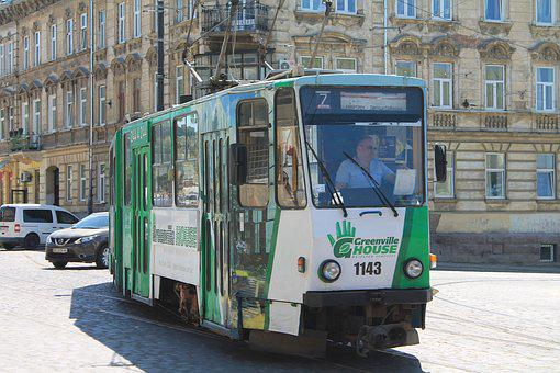 Tram, Lychakivska Street, Ukraine, Lviv