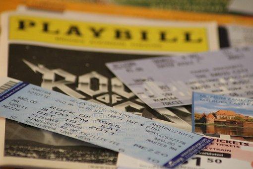 チケット, Playbill, 入場料