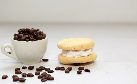 Coffee, Coffee Beans, Cookie, Biscuit
